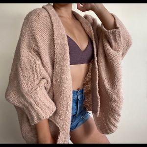 Fuzzy, oversized sweater